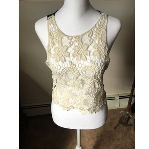 Poof couture lace front, solid back, size L
